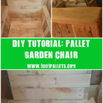 Diy Step-by-step Tutorial: Pallet Garden Chair