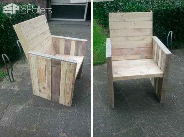 Diy Step-by-step Tutorial: Pallet Garden Chair DIY Pallet TutorialsPallet Benches, Pallet Chairs & Stools