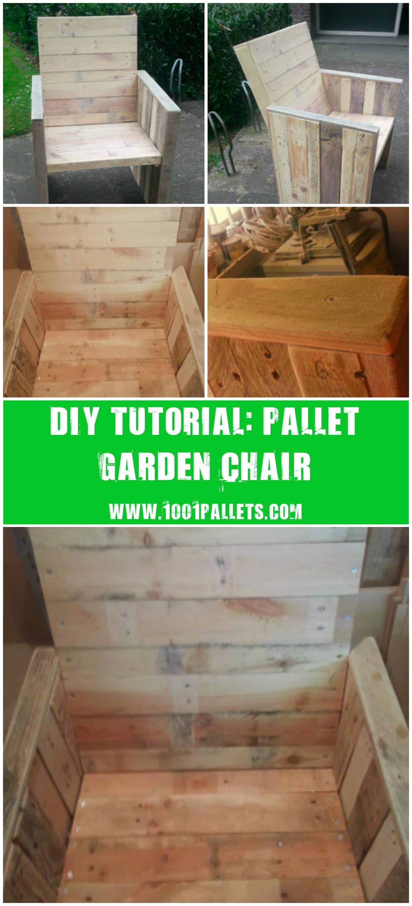 Working with pallets 5 essential woodworking power tools that won - Diy Step By Step Tutorial Pallet Garden Chair