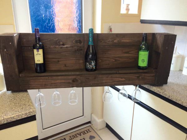 Fast, Easy Pallet Wine Rack Under One Hour Pallet Shelves & Pallet Coat Hangers