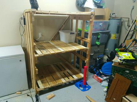 Garage Pallet Storage Shelves