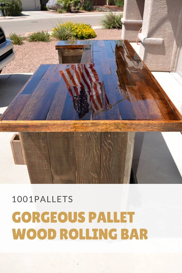 Gorgeous Pallet Wood Rolling Bar 1001 Pallets