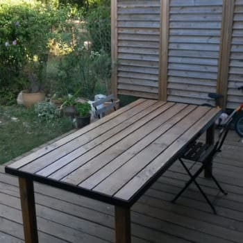 Iron Bed Frame Pallet Garden Table