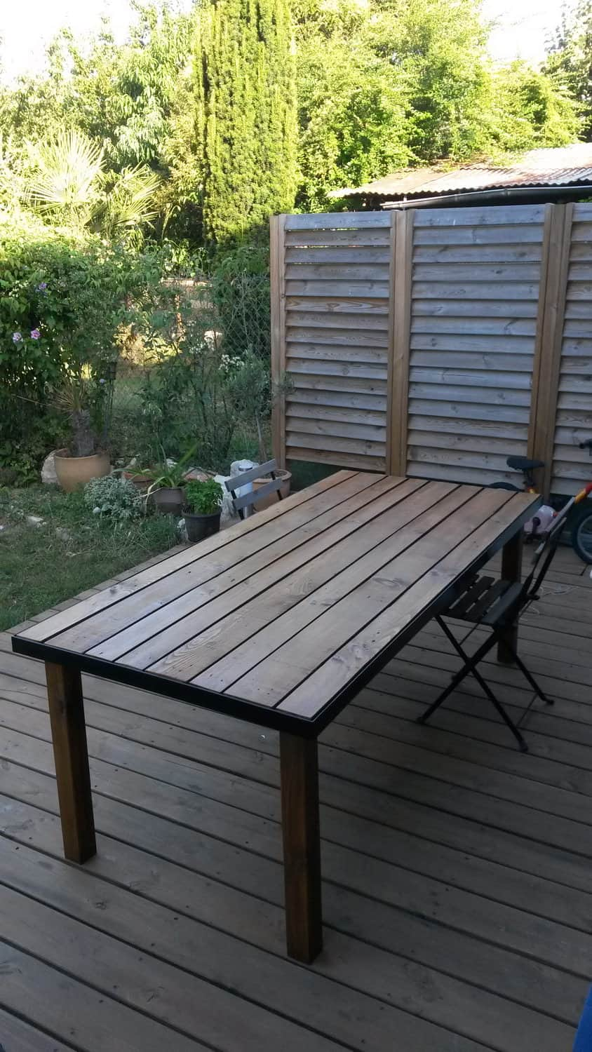 Iron Bed Frame Pallet Garden Table 1001 Pallets