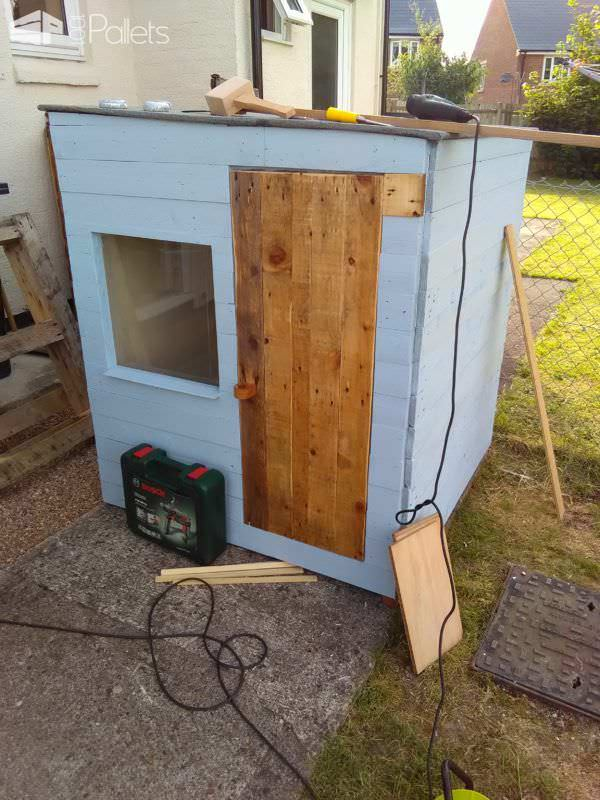 Labor-of-love Pallet Wood Playhouse Pallet Sheds, Cabins, Huts & Playhouses