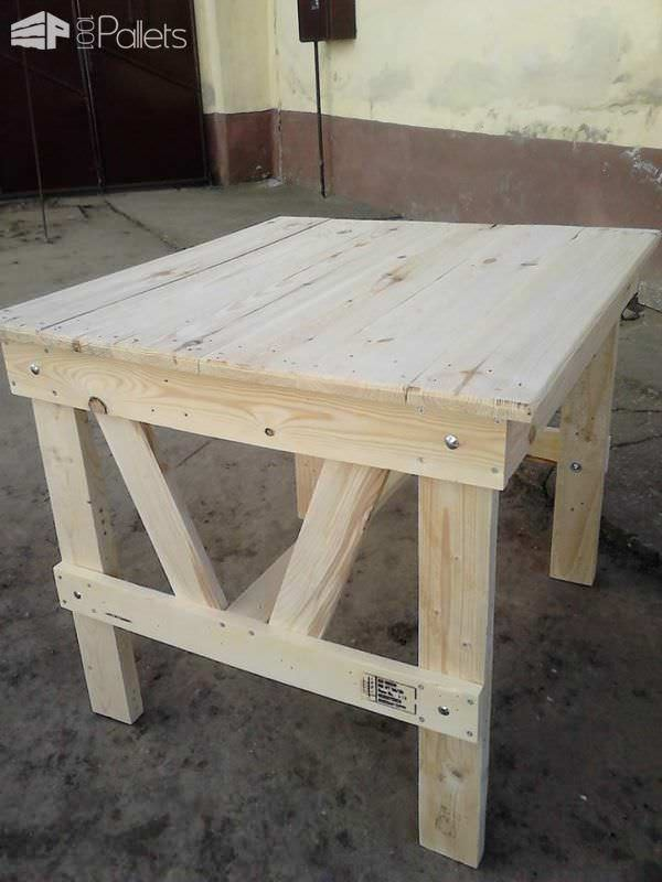 Lovely Pallet Wood Garden Dining Set Pallet Benches, Pallet Chairs & StoolsPallet Desks & Pallet Tables