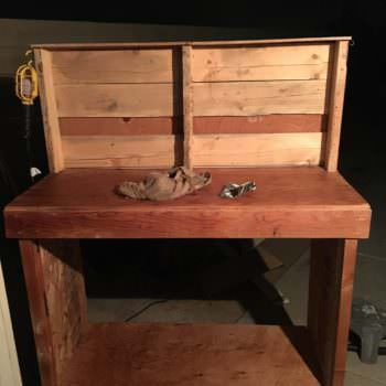 Make Your Own Plywood-topped Pallet Workbench
