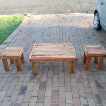 Pallet Coffee Table / End Table Set