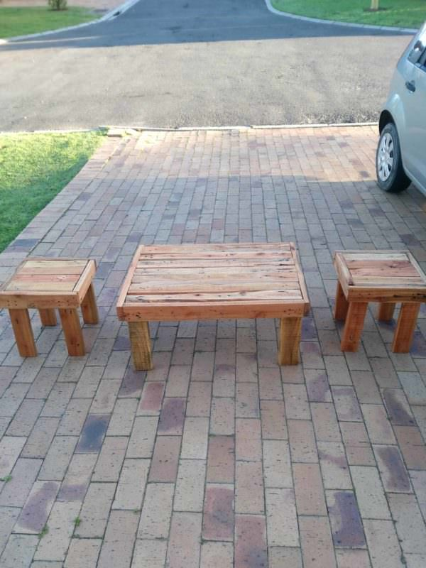 Pallet Coffee Table / End Table Set Pallet Coffee Tables