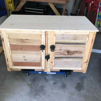 Pallet TV Double-cabinet Console Stand Is My First Pallet Project