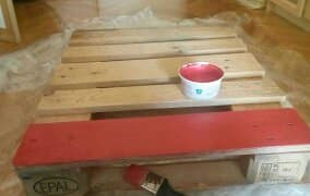 Red Decoupage Pallet Coffee Table Pallet Coffee Tables