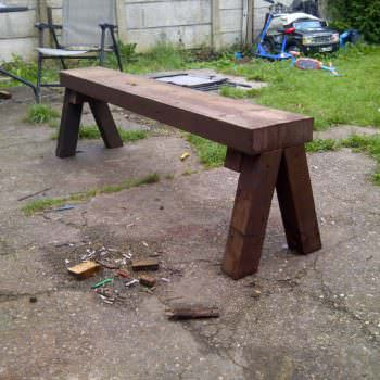 Solid Little Pallet Bench