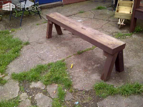Solid Little Pallet Bench Pallet Benches, Pallet Chairs & Pallet Stools