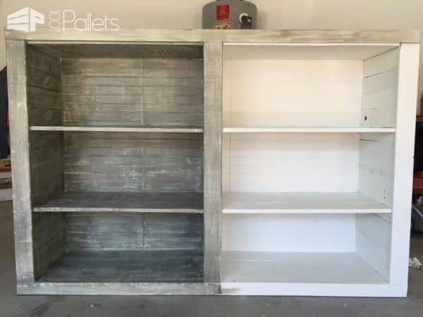 Superb Distressed-look Pallet Bookcases Pallet Bookcases & Bookshelves