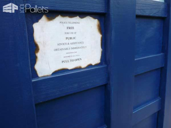 The Pallet Tardis Firewood Box Pallet Boxes & Chests