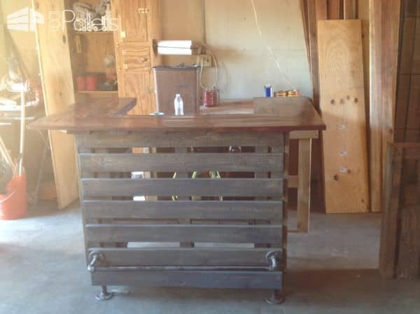 Adjustable-height U-shaped Pallet Bar DIY Pallet Bars