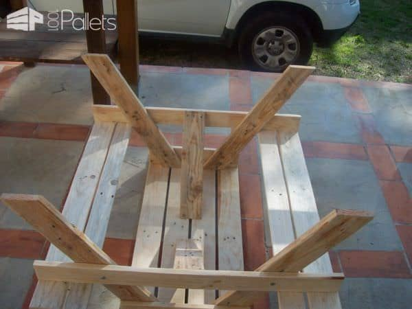 Adorable Children's Pallet Picnic Table / Petite Table Avec Bancs En ...