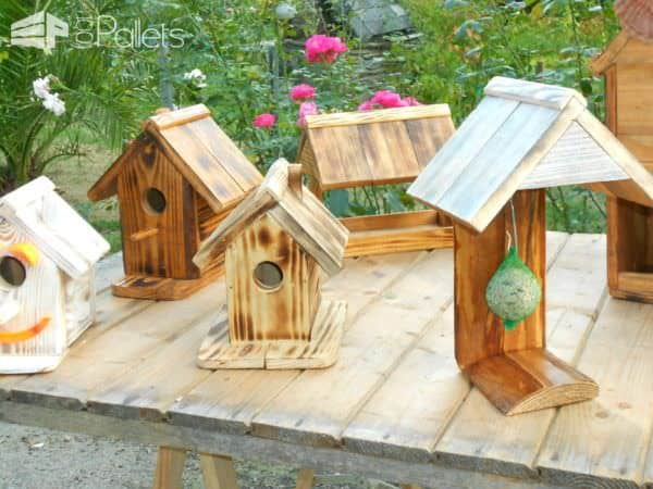 Adorable Pallet Birdhouses Plus Birdfeeders / Mes Créations écologiques Animal Pallet Houses & Pallet Supplies