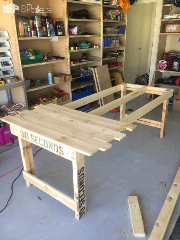 Beautiful 30 Seconds Pallet Gamers Table Pallet Desks & Pallet Tables