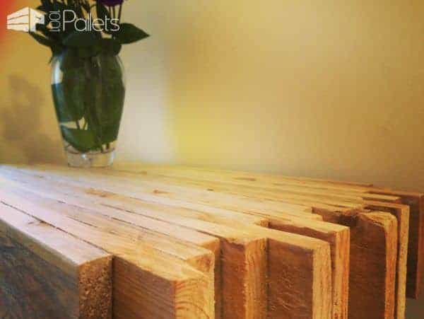 Butcherblock Style Pallet Side Table Pallet Desks & Pallet Tables