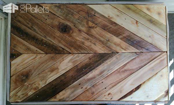 Chevron Design Pallet Coffee Table Pallet Coffee Tables