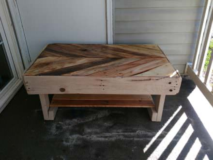 Chevron Design Pallet Coffee Table