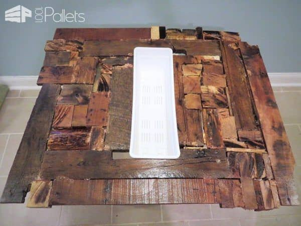 Crazy Quilt Style Pallet Dining Table Pallet Desks & Pallet Tables