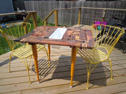 Crazy Quilt Style Pallet Dining Table