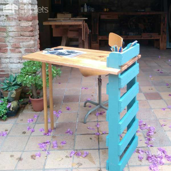 Easy Fit Collapsible Pallet Art Table Pallet Desks & Pallet Tables