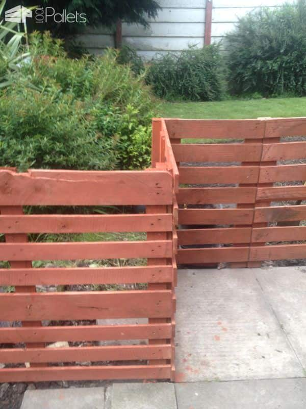 Easy Pallet Fence Patio Surround DIY Pallet Projects Other Pallet Projects Pallet Fences