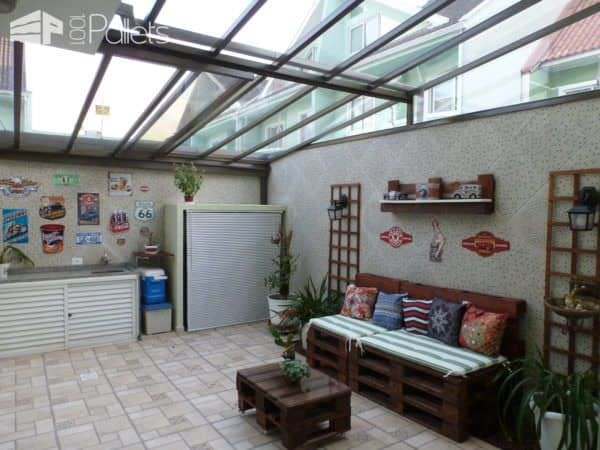 Easy Solarium Pallet Lounge Set