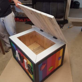 Fantastic First Birthday Pallet Toybox