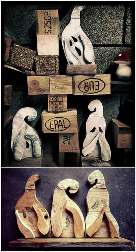 Hear, Speak, See No Evil Pallet Ghosts