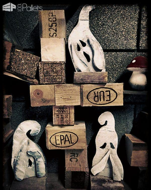 Hear, Speak, See No Evil Pallet Ghosts Pallet Home Accessories