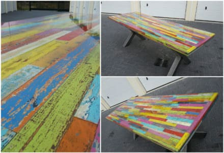 Heavy-duty Pallet Kaleidoscope Dining Table