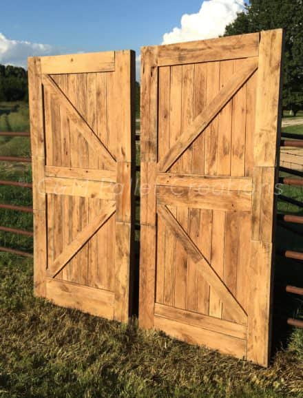 Must-see Prodigious Pallet Barn Door Set