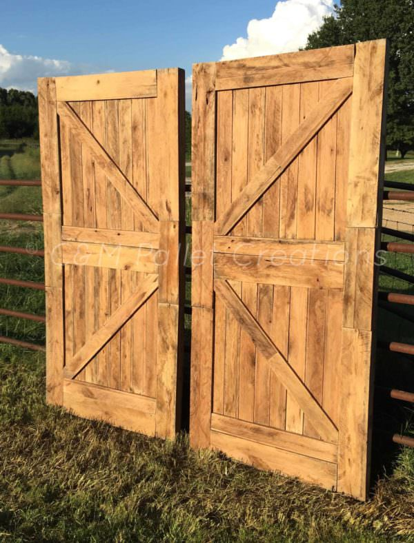 Prodigious Pallet Barn Door Set