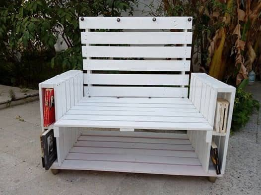 Pallet Book-Bench and Petite Coffee Table1