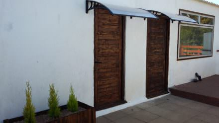 Pallet Door Set Surrounding Matching Planter Box