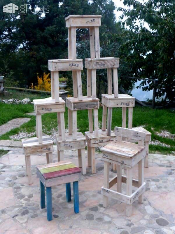 Quick Easy Pallet Stools Fit Any Style Pallet Benches, Pallet Chairs & Stools