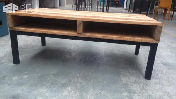 1001pallets.com-Steel-Framed Pallet Coffee Table1