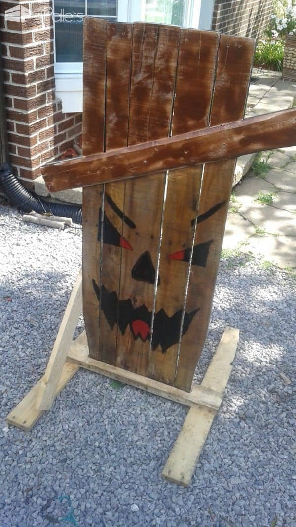 Spooky Pallet Lamp Trio, Scary Pallet Signs Pallet ideas for DIY - Home Décor