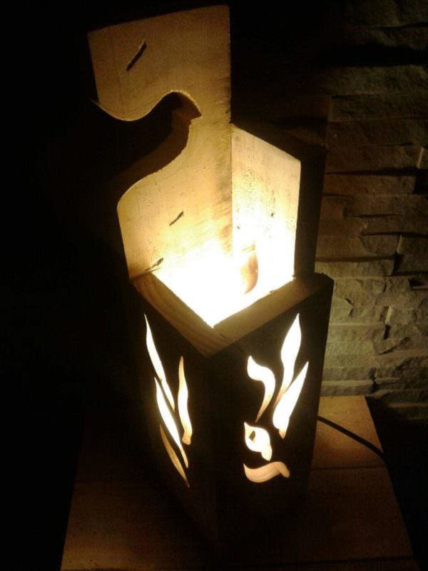 Stylish Jigsaw Pallet Wood Lamp Pallet Lamps, Pallet Lights & Pallet Lighting