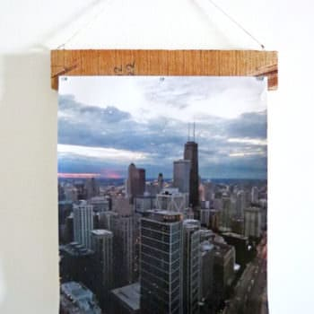 Super Easy Rustic Pallet Photo Hanger