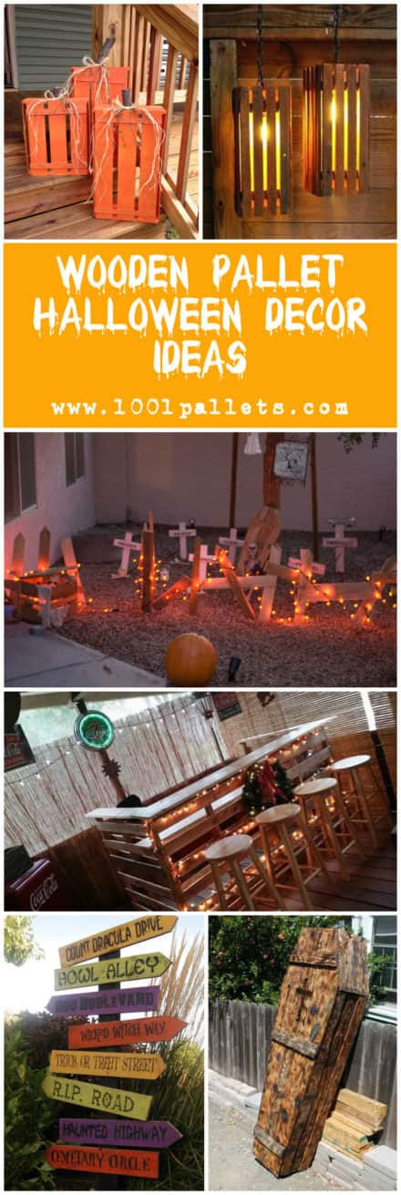 Wooden Pallet Halloween Decor Ideas