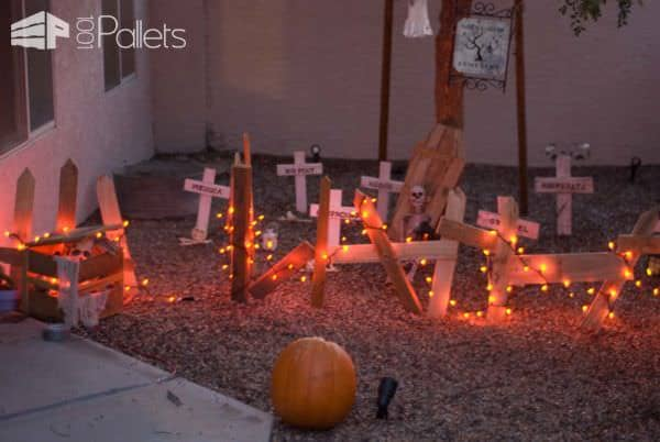 Wooden Pallet Halloween Decor Ideas Pallet ideas for DIY - Home Décor