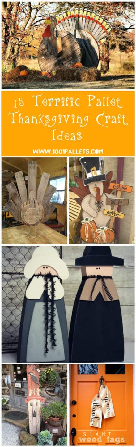 15 Terrific Pallet Thanksgiving Craft Ideas