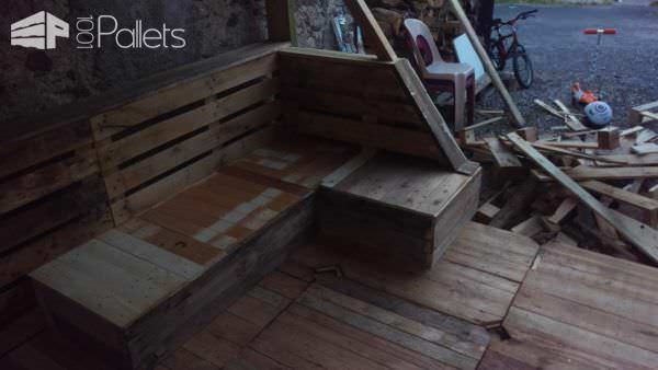 Absolutely Amazing Complete Pallet Terrace Set Lounges & Garden Sets Pallet Terraces & Pallet Patios