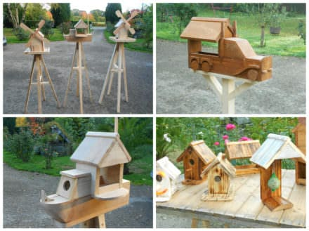 Adorable Pallet Birdhouses Plus Birdfeeders