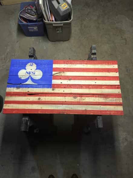 Awesome No Slack Pallet American Flag